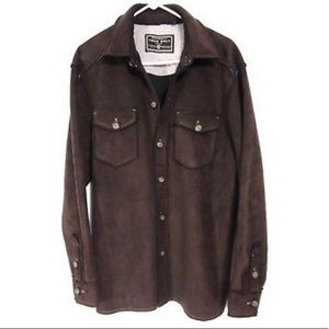 True Grit Shirt Jacket Thick Sueded Microfiber
